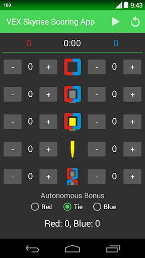 VEX Skyrise Scoring App
