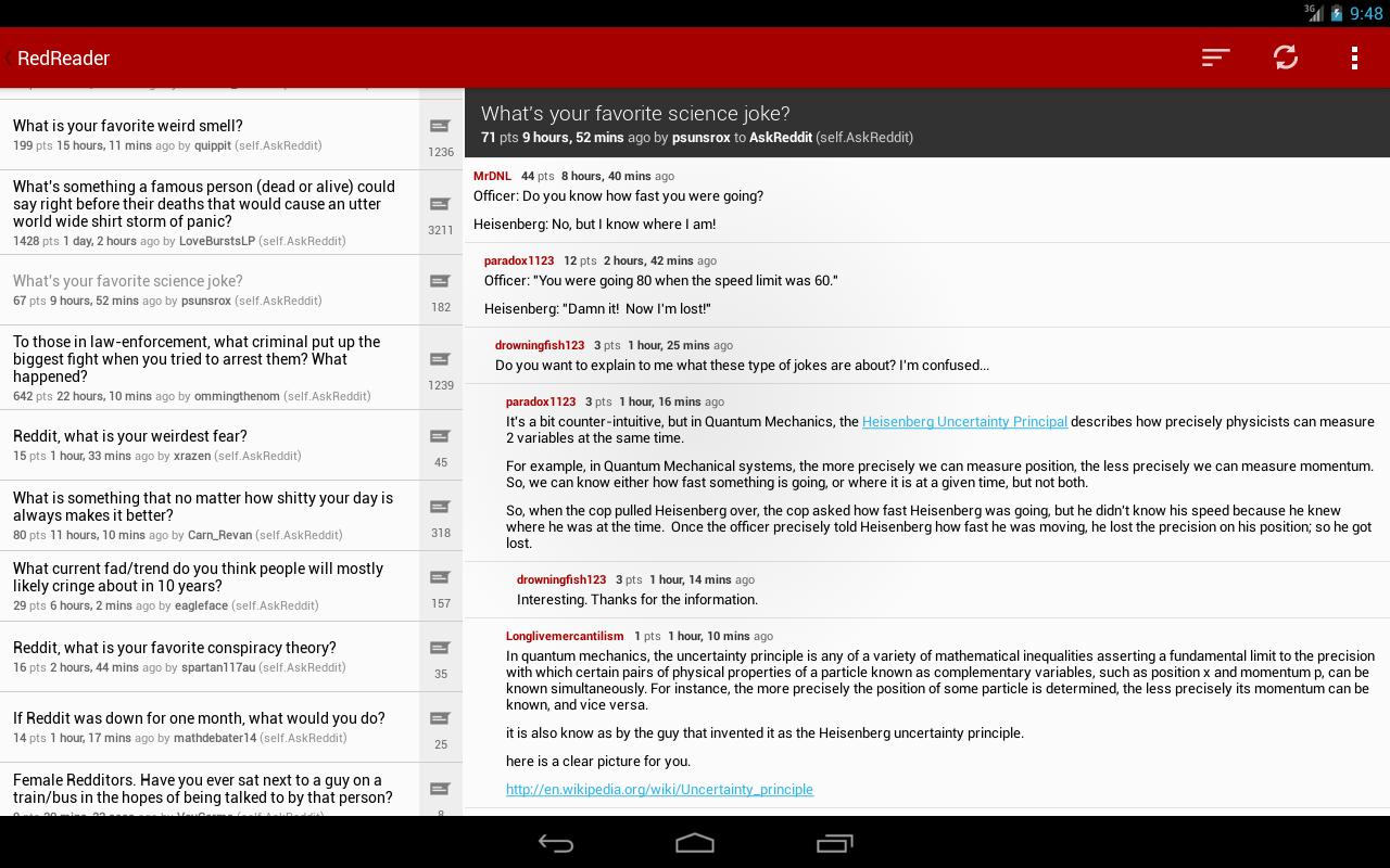 RedReader Beta - screenshot