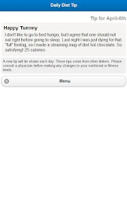 Daily Diet Tip- screenshot thumbnail