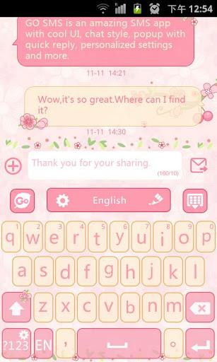 Lovepetal GO Keyboard Theme