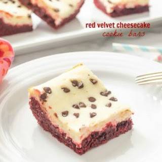 Red Velvet Cheesecake Cookie Bars