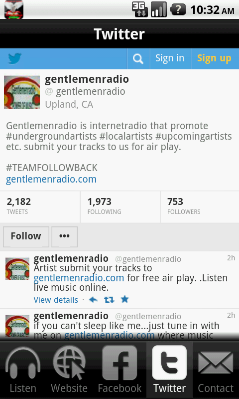 Gentlemen Radio- screenshot