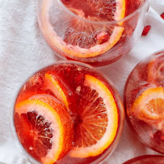 Blood Orange and Pomegranate Sparkling Sangria.