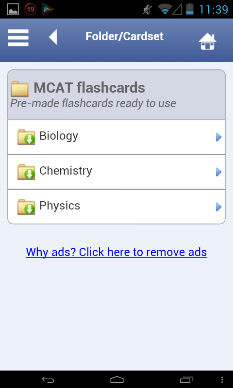 MCAT Flashcards - screenshot