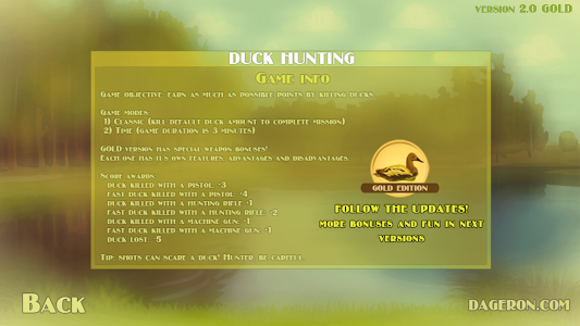 Duck Hunting GOLD Edition v2.0