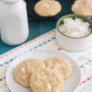 Chewy Coconut White Chocolate Chip Cookies.