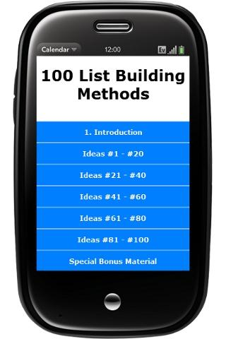 List Building 100 Tips