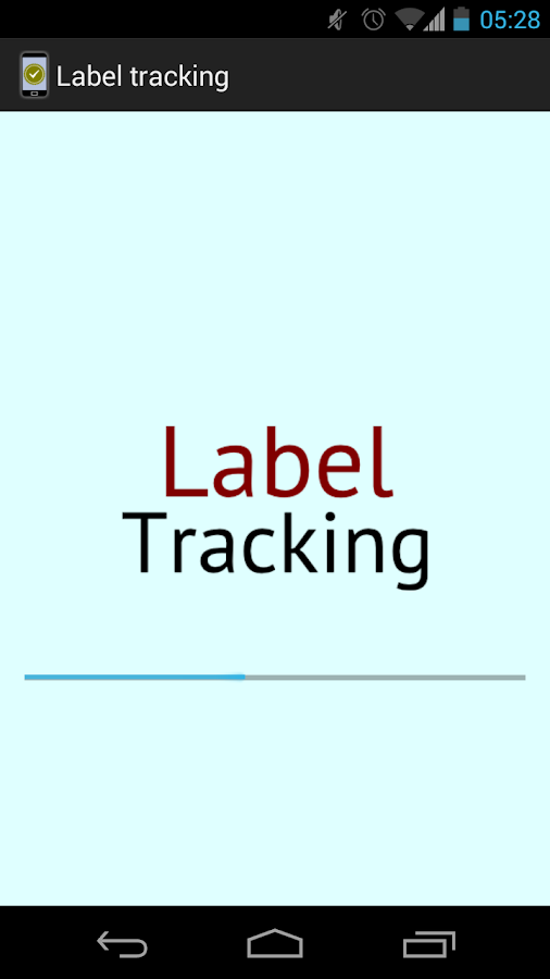Label Tracking- screenshot