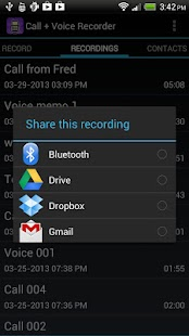 Call + Voice Recorder Free- screenshot thumbnail