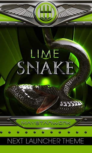 lime snake Next Launcher Theme
