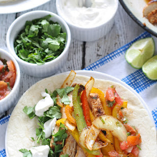 Chicken Fajitas - Freaky Friday Blog Hop.