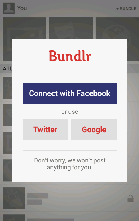 Bundlr- screenshot