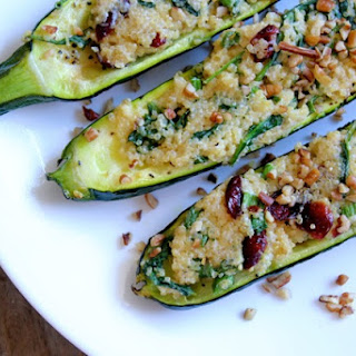Cranberry Quinoa Stuffed Zucchini Recipe