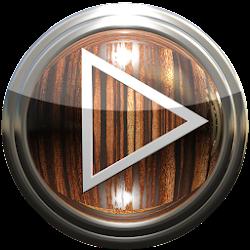 Poweramp skin wood
