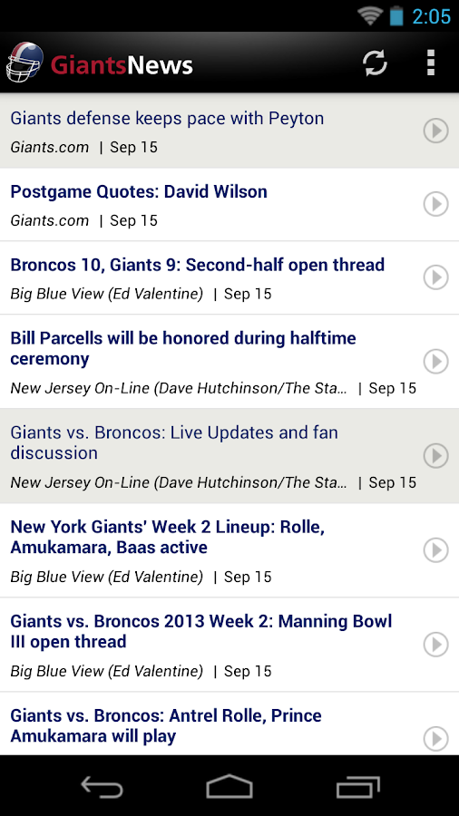 Giants News (NFL) - screenshot