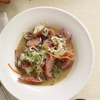 Sausage, Potato and Cabbage Stew.