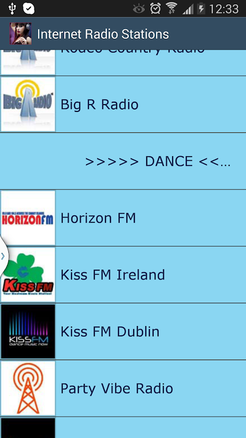 Internet Radio Stations - screenshot