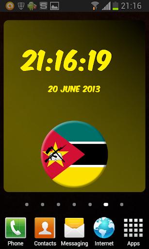 Mozambique Digital Clock