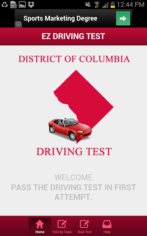 Washington DC Driving Test- screenshot