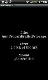 Root # All Data2SD card. Screenshot 2