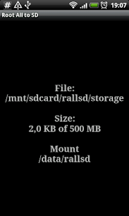 Root # All Data2SD card. Screenshot 2