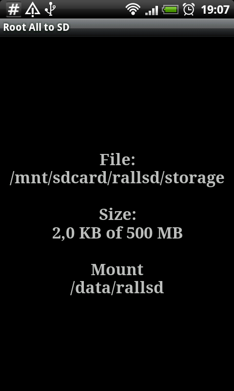 Root # All Data2SD card. - screenshot
