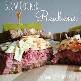 Slow Cooker Reuben Sandwiches.