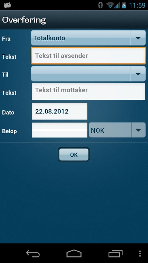 Mobilbank NO - screenshot