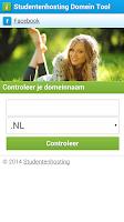 Screenshot of Studentenhosting Domein Tool