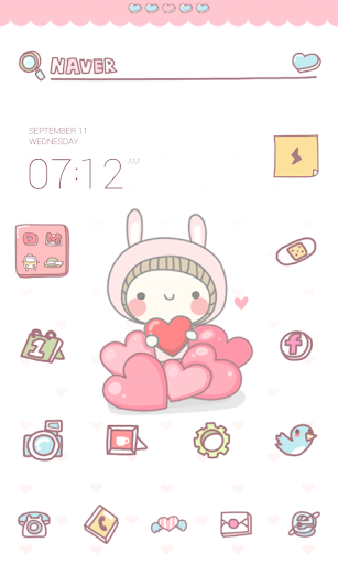 Heart dodol launcher theme