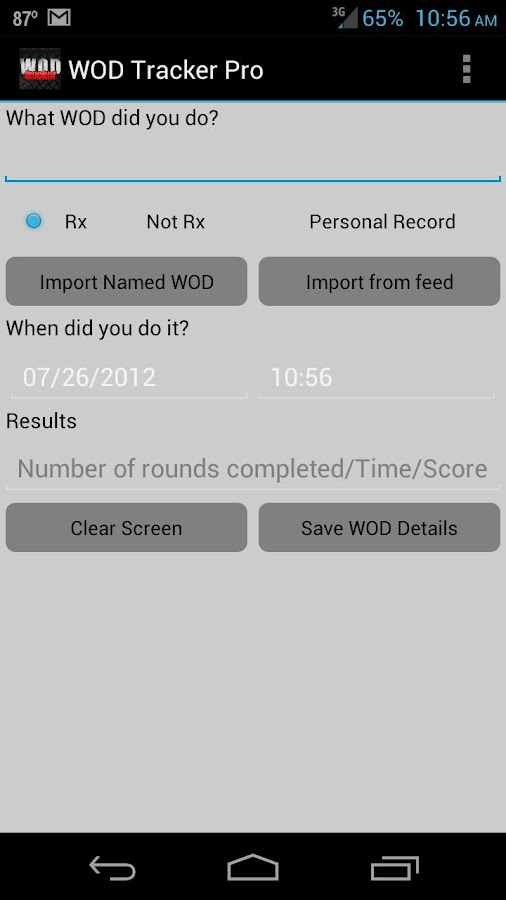 WOD Tracker Pro- screenshot