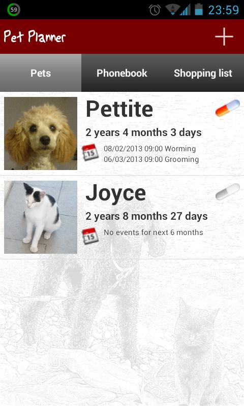 Pet Planner - screenshot