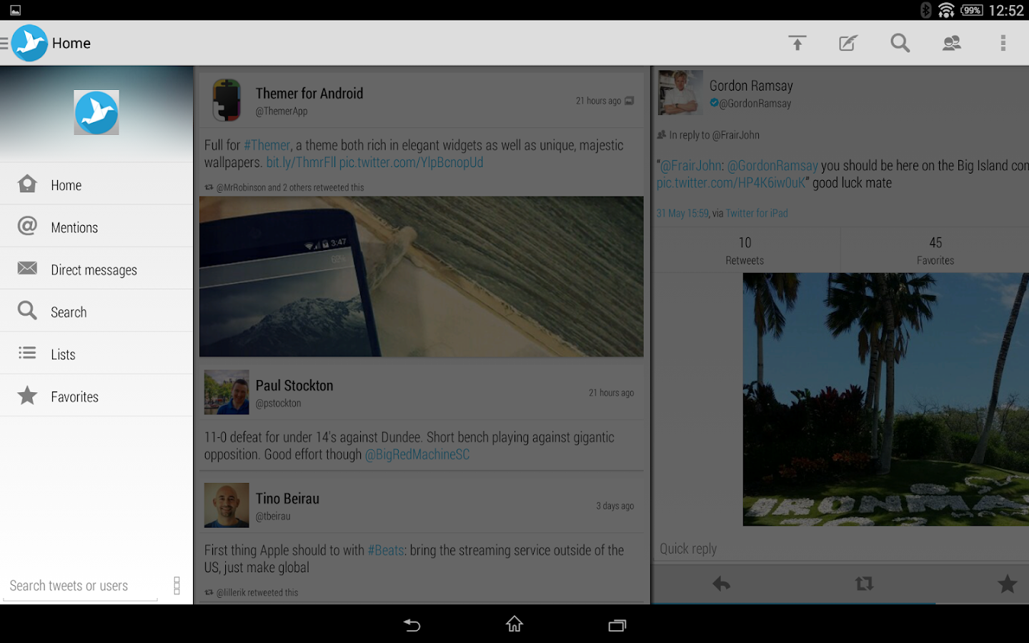 Tweetings for Twitter - screenshot