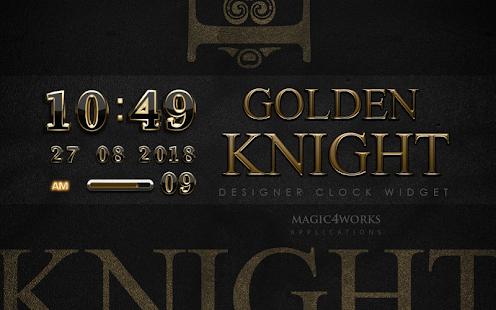 digital clock golden knight