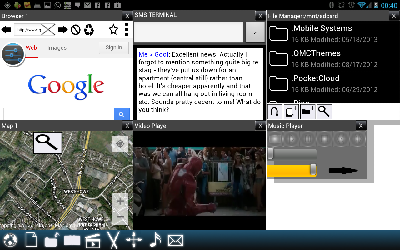 Split View Multi Screen Tablet - screenshot