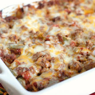Cheesy Potato Taco Casserole.