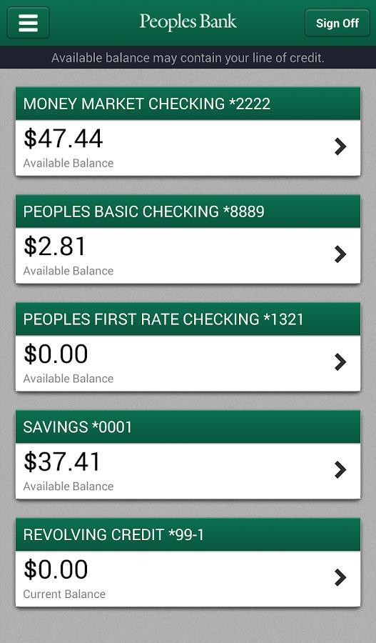peoples bank wa screenshot