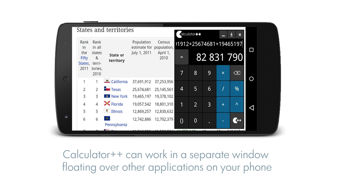 Calculator ++- screenshot