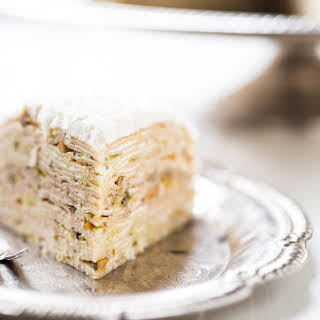 Pistachio Crepe Cake.