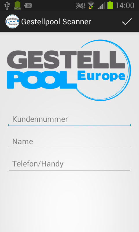 Gestellpool Scanner – Screenshot