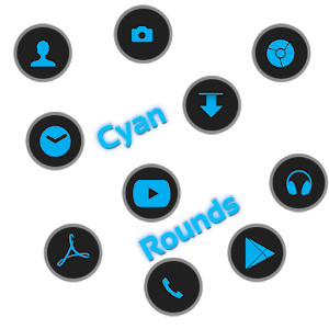 CyanRounds Icon Pack 娛樂 App LOGO-硬是要APP