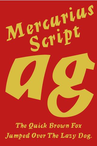 Mercurius Script FlipFont