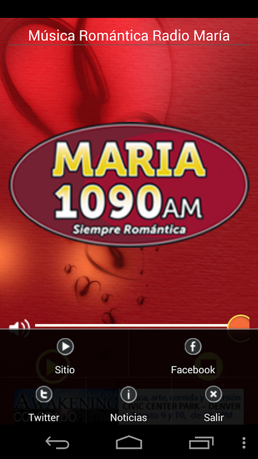 Romantic Music Radio María - screenshot