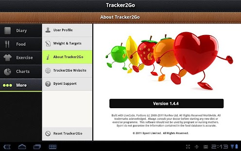 Diet Tracker 2 Go Pro - screenshot thumbnail