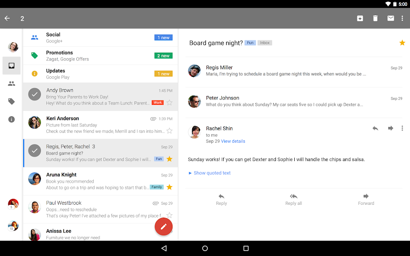 Screenshot 6 for GMail's Android app'