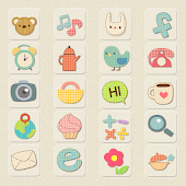 CUKI Theme Pastel Patten Icon