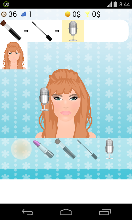 singer make up games - screenshot