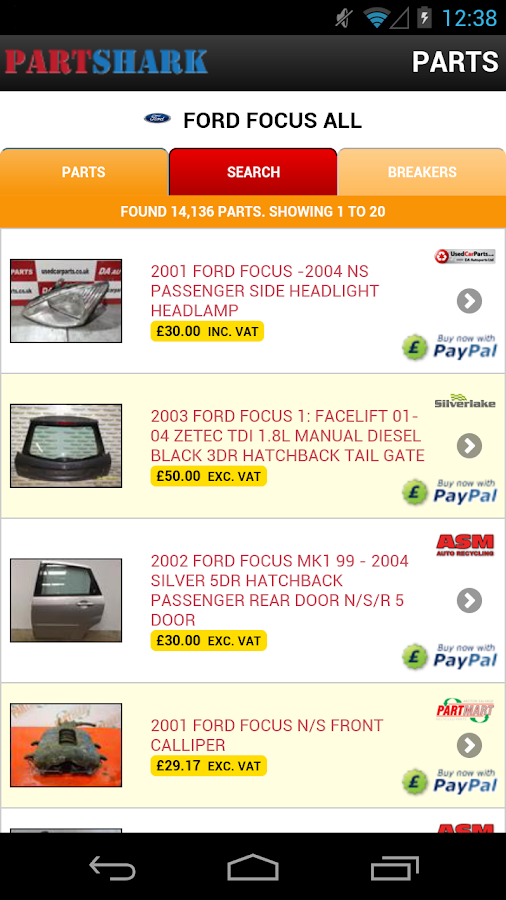 PartShark Car Parts & Spares- screenshot