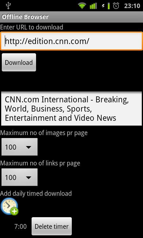 Offline Browser- screenshot