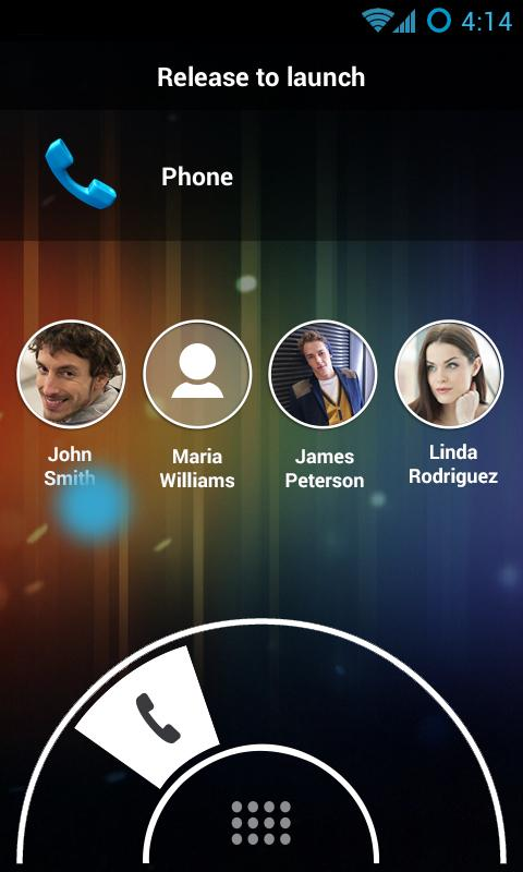 Swipe Lock Screen Launcher - screenshot
